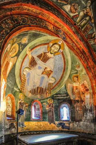 Fotografija The frescoes of the late 11th century depict scenes from the life of the abbot of St