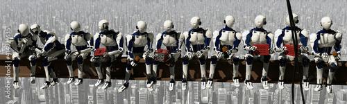Obraz na plátně Robots trabajadores