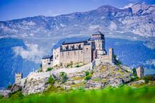 Sion, Switzerland - Notre-Dame De Valere In Alps
