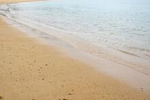 国東半島にある長崎鼻海水浴場の砂浜