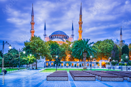 Fototapeta Blue Mosque in old Constantinople - Istanbul, Turkey