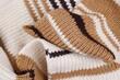 Tekstura wełna kolorowy szal
