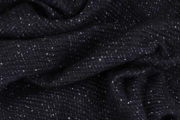 Tekstura wełna czarny szal