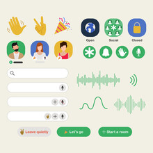 Clubhouse App For Drop In Audio Chat Application On Smartphone.