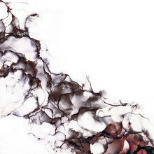Abstract Alcohol In Background In Smokey Black, Red And Rust Tones