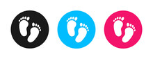 Footprint Of Girl And Boy Icon Vector