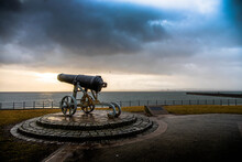 Old Canon Overlooking The Sea