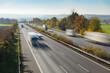Autobahn in Deutschland mit Verkehr