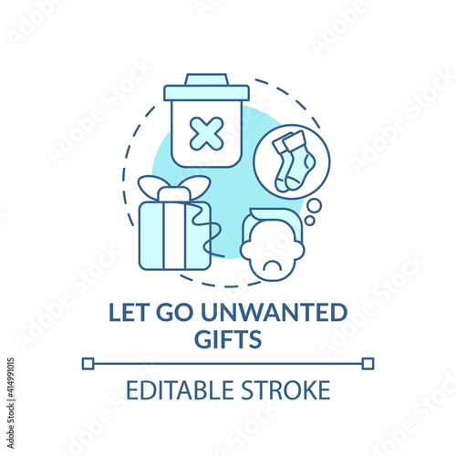 Fotografie, Obraz Letting go unwanted gifts concept icon