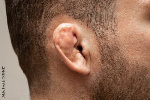 Canvas Damaged and broken cartilage of ear