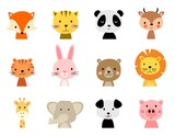 vector cute animal characters