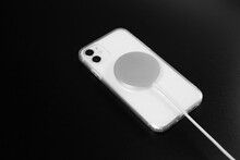 Wireless Magnetic Charger For Your Phone. Background