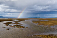 Rainbow On The Beach At Solway