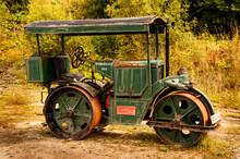 Old Rusty Deisel Road Roller