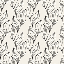 Vector Seamless Pattern. Modern Repeating Floral Texture. Fancy Print With Stylized Flowers. Can Be Used As Swatch For Illustrator