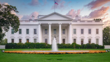 The White House In Washington DC In The USA Surrounded By Green Garden