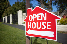 Open House Sign On The Street