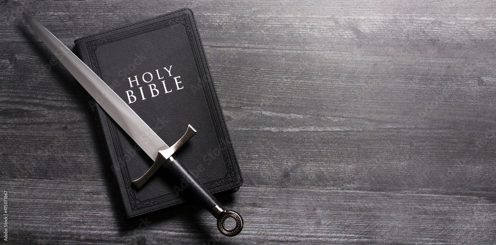 Fototapeta The Sword of the Spirit is the Word of God the Bible