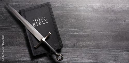 Fototapeta The Sword of the Spirit is the Word of God the Bible obraz