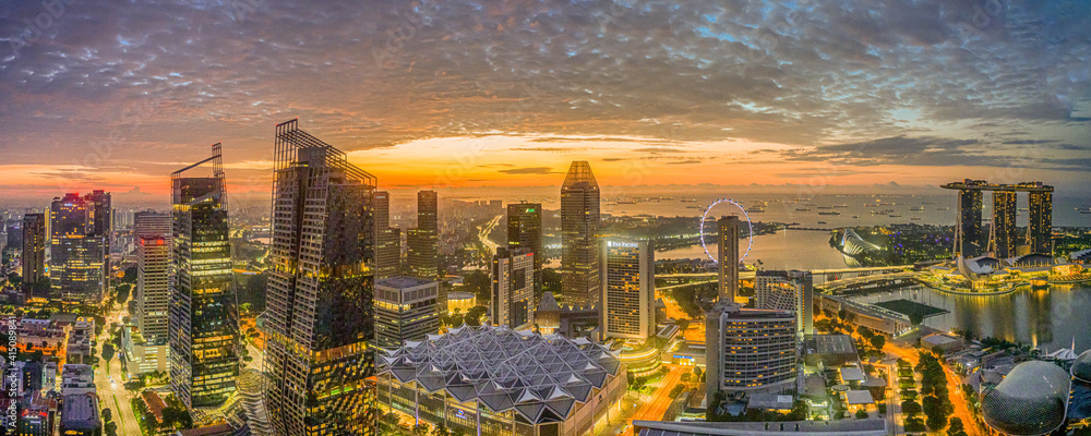 Fototapeta Singapore Sunrise