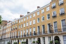 Facade Of Georgian Style Terraced Houses In London