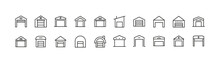 Set Of Warehouse Line Icons.