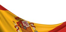 Spain Flag  3d Nation Illustration Banner