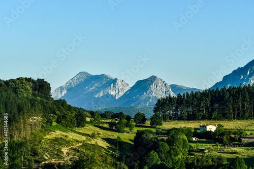 Obraz na plátně landscape in the mountains, photo as a background , in Navarra Aragon Zaragoza s