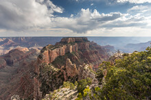View From Cape Royal Point Of The North Rim Of Grand Canyon National Park