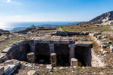 Ruins Of Ancient Thera, Santorini, Cyclades, Greek Islands