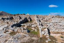 Ruins Of Ancient Thera, Santorini, Cyclades, Greek Islands