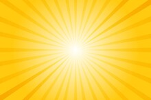 Abstract Background With Sun Ray. Summer Vector Illustration
