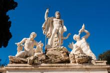 Fontana Del Nettuno (Neptune's Fountain), Piazza Del Popolo, Rome