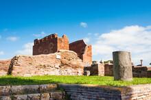 The Curia And Capitolium Behind, Ostia Antica Archaeological Site, Ostia, Rome Province