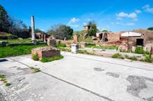 Serapeo, The Serapeum Was A Temple Dedicated To Serapis, Ostia Antica Archaeological Site, Ostia, Rome Province