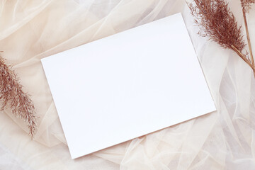pastel tones blank a4 paper template, picture mockup