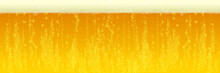 Beer Background. Vector Fresh Beer Froth With Foam Bubbles Texture. Horizontal Cold Beer Pattern Background