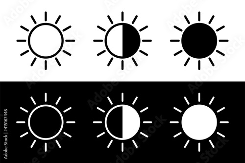 Fototapeta Screen brightness sun icon