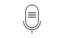 Podcasting Microphone Simple Icon Design.