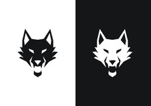 Fox Logo Template. Flat And Line Art Style Icon Collection