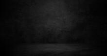 Old Black Background. Grunge Texture. Dark Wallpaper. Blackboard, Chalkboard, Room Wall.