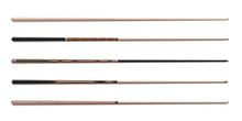 Billiard Cues Sticks Realistic Collection. Snooker, American Pool Wooden Accessories.