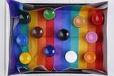 Fototapeta Tęcza - Farby kolorowe na kolorowym tęczowym tle