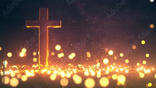 Tela 3D Cross Background