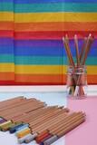 Równość tolerancja tęcza wielokolorowy