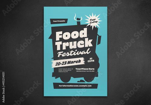 Fototapeta Food Truck Festival Flyer Layout obraz