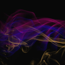 Abstract Blue, Pink, And Yellow Smoke