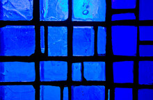 Abstract Stained Glass Window Blue