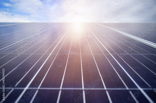 Photo Solar panels on the roof of the house, where there is sunlight.