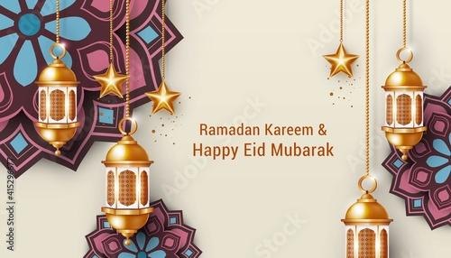 Stampa su Tela islamic background for ramadan and eid mubarak